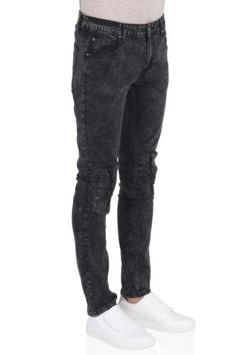 jeans negro vestimenta veteado