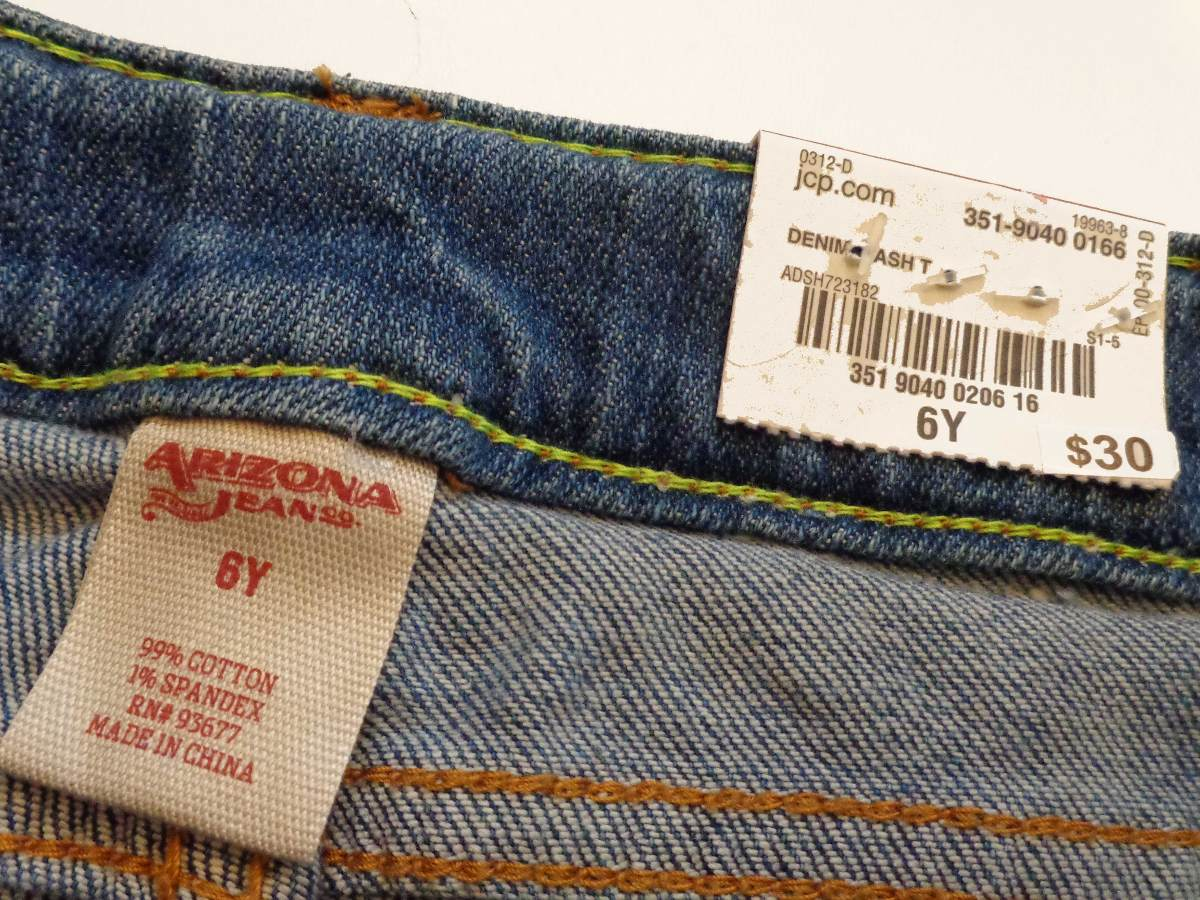 df938c1aab Jeans Nina 6 Anos Stretch Pantalones Mezclilla Arizona Bello ...