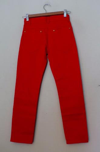 jeans niña rojos