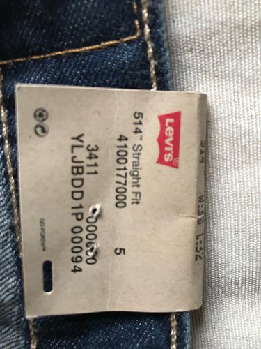 jeans nuevo original importado levis slim 30x32 modelo 514