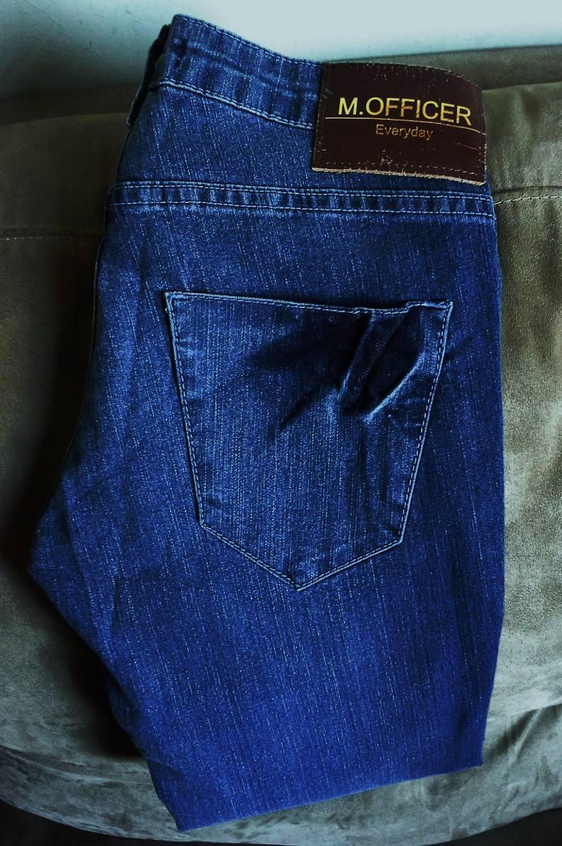 4f7cdcd32 Calça Jeans Feminina M. Officer -modelo Strech Fashion Tm 34 - R ...