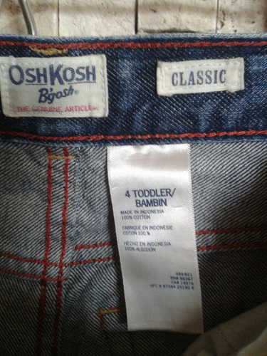 jeans oshkosh talla 4 niño