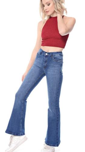 jeans oxford clasico elastizado tiro alto