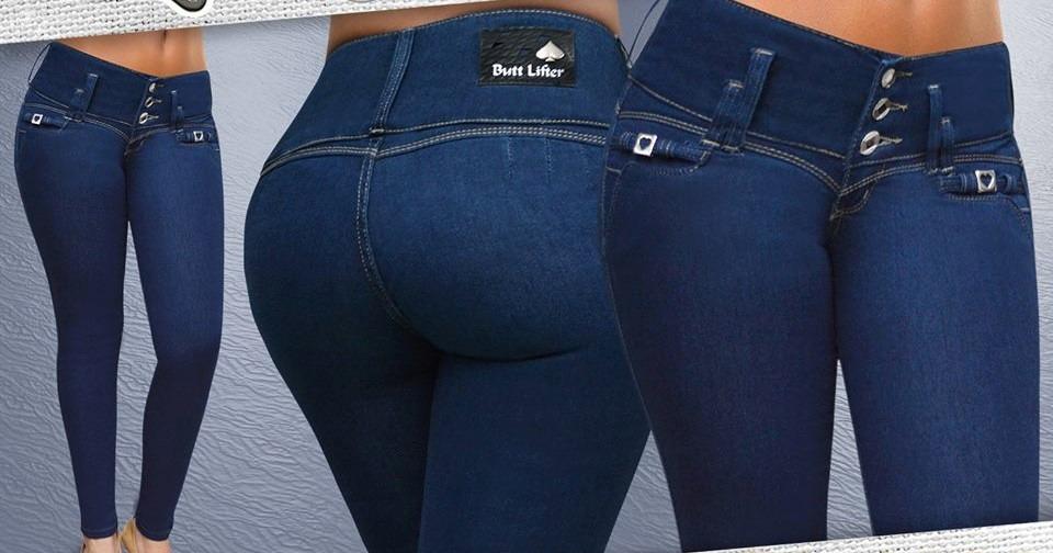 Jeans Pantalon Colombiano Push Up Peto Talla Extra Buenfin ...