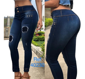 la mejor moda online para la venta oficial de ventas calientes Jeans Pantalon De Dama Studio Strechs Rotos Altos,