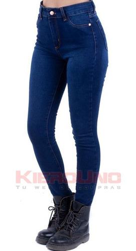 jeans pantalón elastizado chupin azul mujer excelent calce