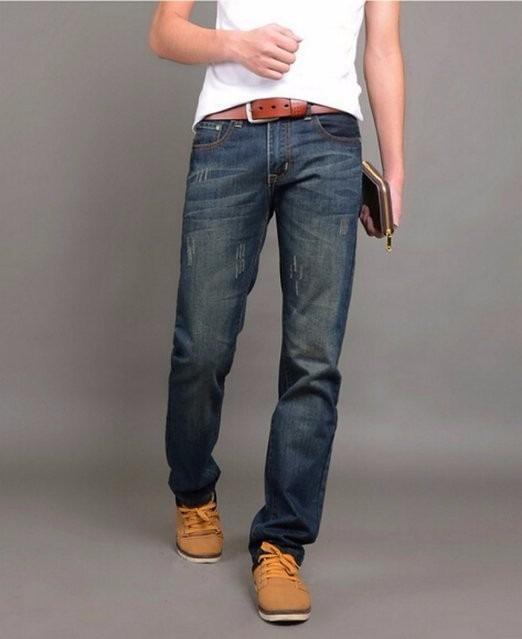 85fb76597 Jeans-pantalon Para Caballero-hombre Casual Azul Recto - Bs. 0