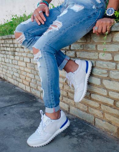 jeans pantalon skinny rasgado para caballero marca fragore
