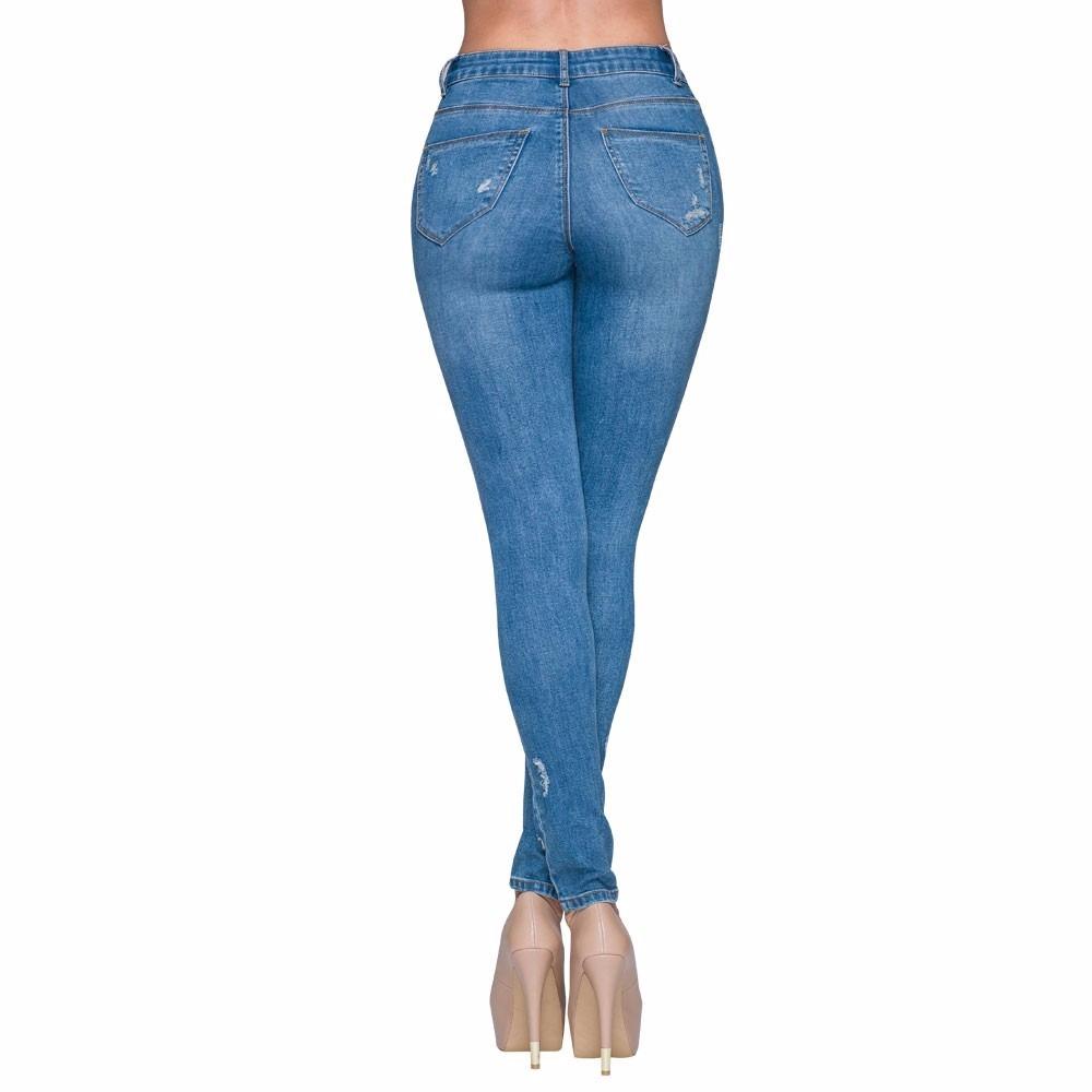 Jeans Rasgados Paris Hilton De Mujer Nueva Temporada -   799.00 en Mercado  Libre 65d777b3c274