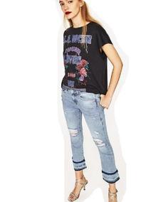 308418bb84 Jean Roto Desflecado Mujer - Jeans Zara en Mercado Libre Argentina