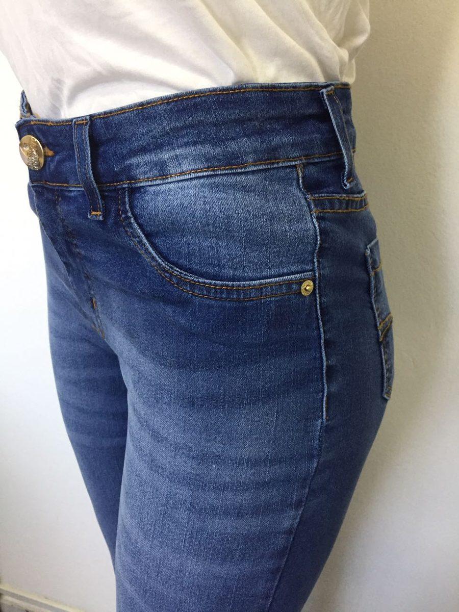 7e4e36158 Carregando zoom... calça jeans flare lycra cintura alta roupas femininas  7424