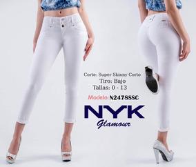 5f032f97 Jeans Savi Nyk Tobillero 2478 Blanco Cortecolombiano Push Up