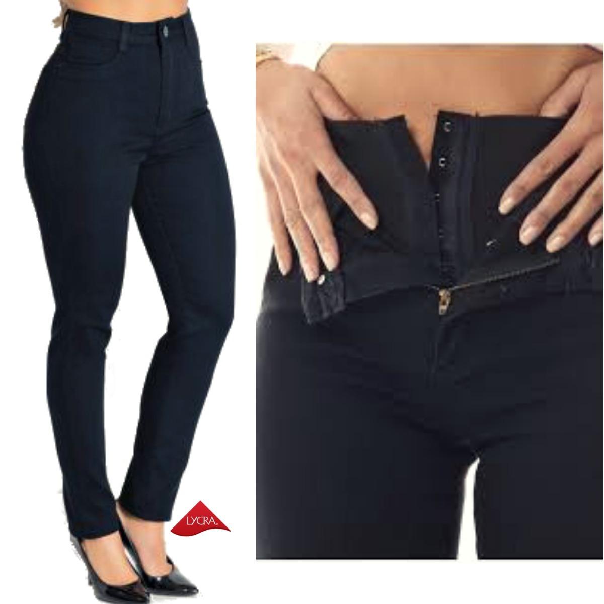 15feadc44 Carregando zoom... 5 calça jeans feminina super lipo sawary cintura super  alta