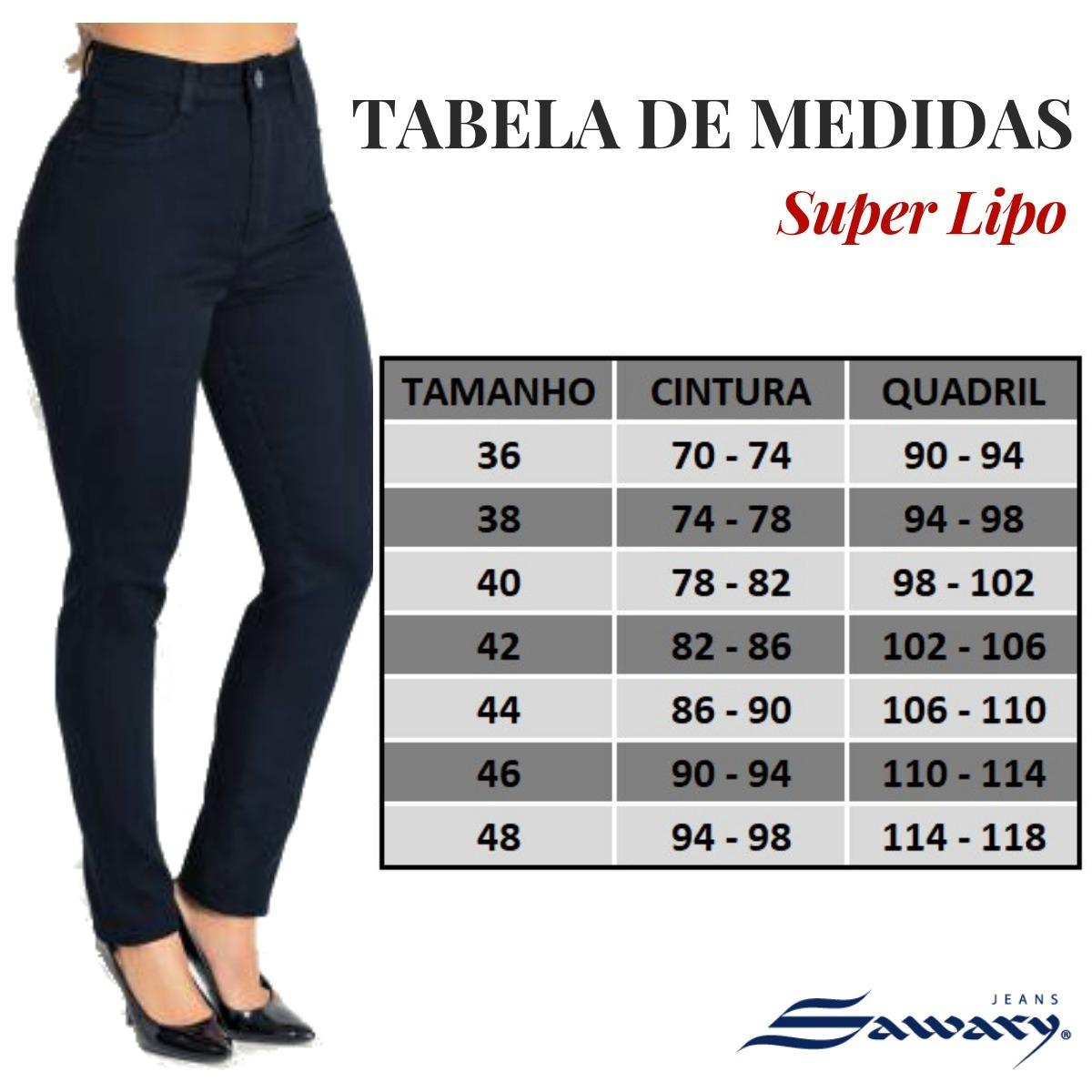 68f009a1ea Calça Jeans Feminina Super Lipo Sawary Cintura Alta - R  119