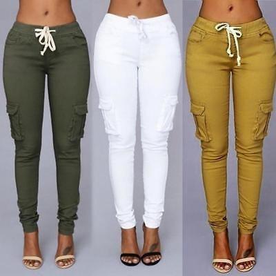 jeans stretch moda regalo mujer lápiz... (l, green)