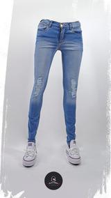 b304b784fe Jeans Taura -nueva Coleccion Roturas Denim Tiro Alto Jmaz003