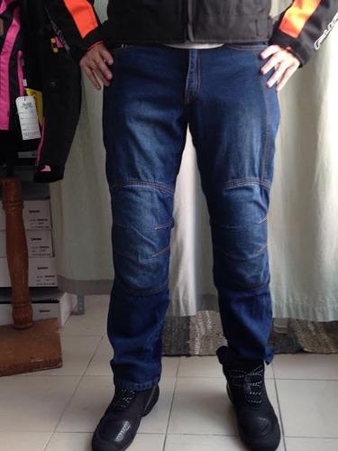 jeans verdi para moto c/kevlar y protecciones.