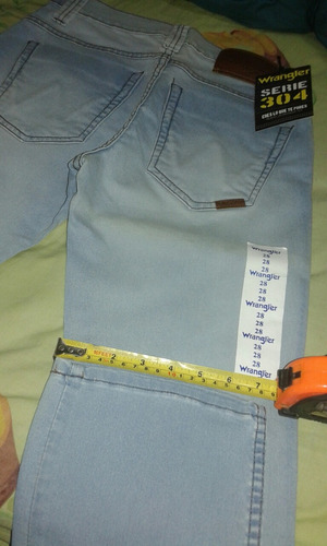 jeans wrangler original, serie 304, talla 28(stretch).