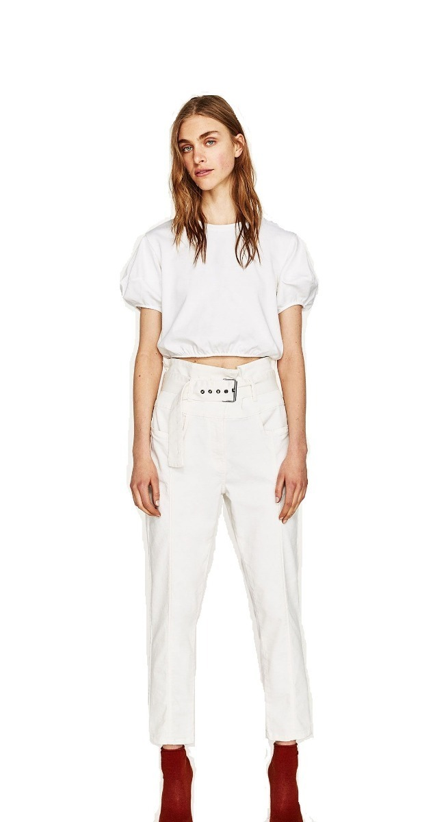 4d265e0db Zara Tiro Cinto Alto Cargando Zoom Jeans dqAPd