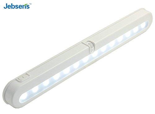 jebsens t01 luz del armario led con batería, sensor de