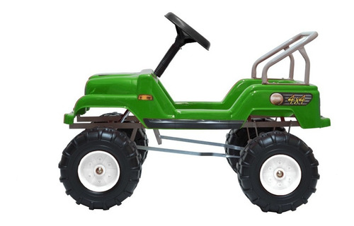 jeep a pedal 4x4 paton karting auto barra planeta juguete