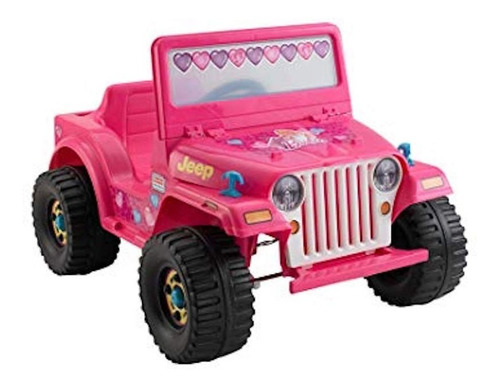 jeep barbie fisher price power wheels 6v