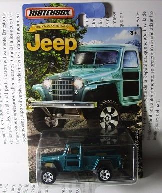 jeep camioneta willys coleccion matchbox escala 1/64