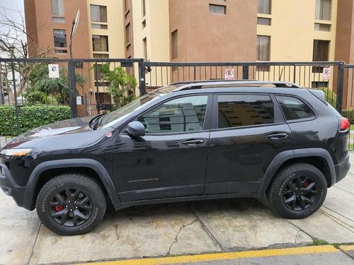 jeep cherokee trailhawk 2016 4x4 negra