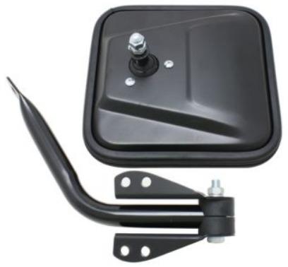 jeep cj5 1960 - 1983 espejo derecho manual negro nuevo!!!