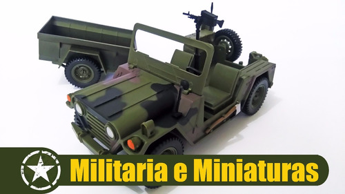 jeep com reboque 1/18 - world peacekeepers power team elite