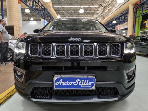 jeep compass 2.0 flex preta 2017 (completa + banco de couro)