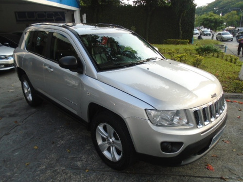 jeep compass 2.0 sport automático 2012 prata completo