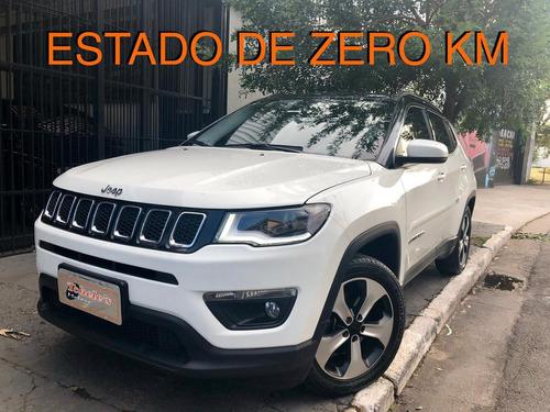 jeep compass 2018 longitude top branca  estado de zero km