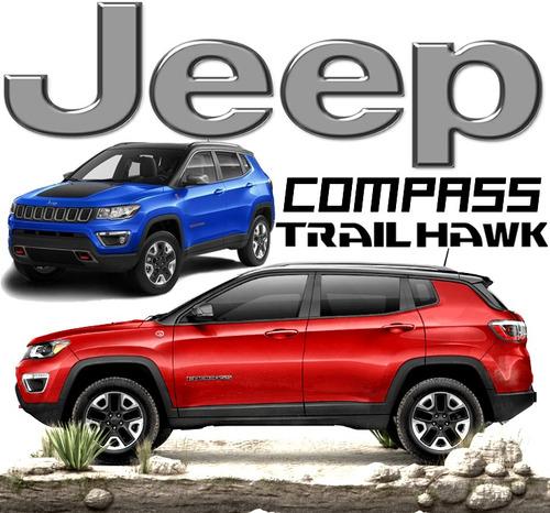 jeep compass 2.4 trailhawk 4x4 at sunroof piel ebd abs rhc