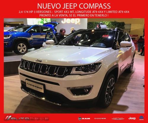 jeep compass longitud-plus entrega sep!!!