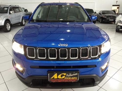 jeep compass longitude 2017 azul 2.0 flex aut top midia rd18