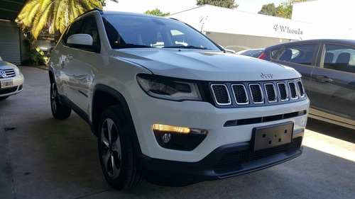 jeep compass longitude 2.4 automatica 9 vel. 2017 blanca