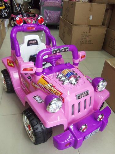 jeep eléctrico para niña 12v con control remoto