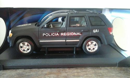jeep gran cherokee esc 1/18 gri policia