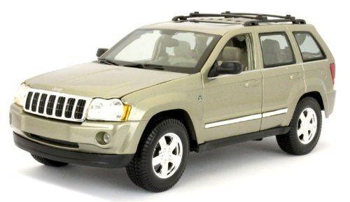 jeep grand cherokee escala 1:18 color dorado de coleccion