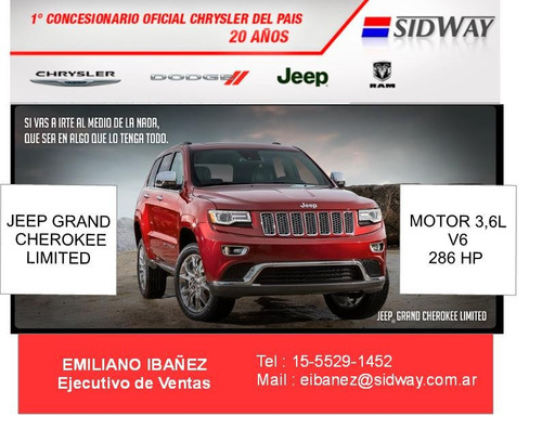 jeep grand cherokee limited 3.6l atx 2017 0 km ei