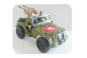 Con Y Jeep Juguete Metralleta Ljckf3t1 Camuflaje Soldados Militar 5jL3A4R