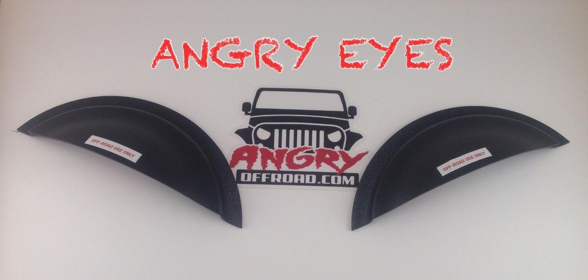 Jeep Ojos Enojados Wrangler Jk Tj Cj Angry Eyes Off Road 1 950 00 En Mercado Libre