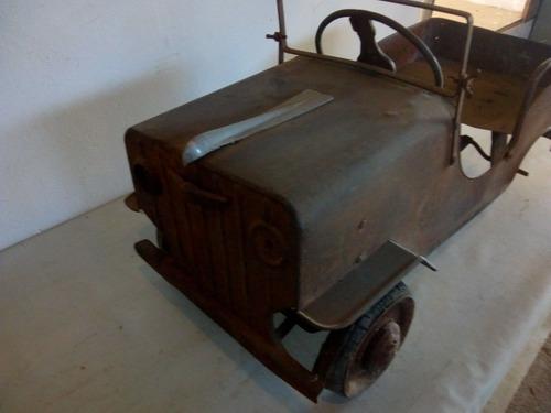 jeep pedalcar bandeirante antigo de lata raridade