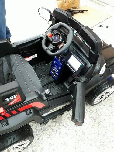 jeep policia 2 niños,pantlla tactil,control remoto, usb, sd