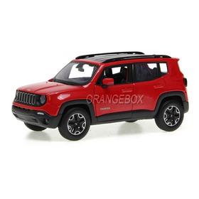 Jeep Renegade 1:24 Maisto Vermelho  Mai-31282-vm