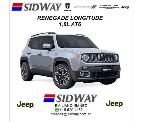 jeep renegade 1.8 l longitude 4x2 at6 e/i