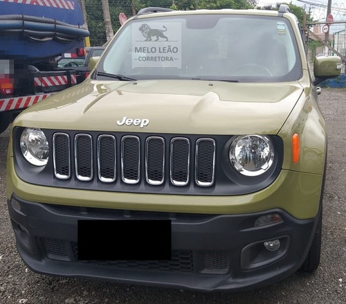 jeep renegade 1.8 longitude 4x4 - 15/16 - automático, verde*