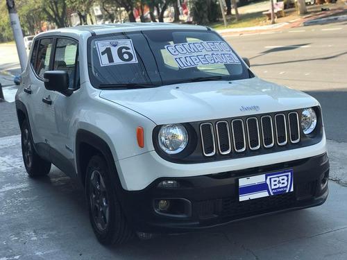 jeep renegade 1.8 sport flex automatico 2016 com couro