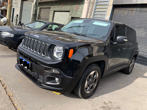 jeep renegade 1.8 sport plus impecable! negra!!
